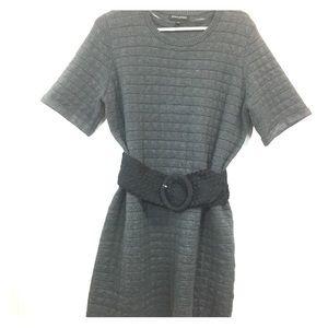 BANANA REPUBLIC L Gray Sweater Dress EUC